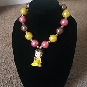 Beuty and the beast gumball necklace